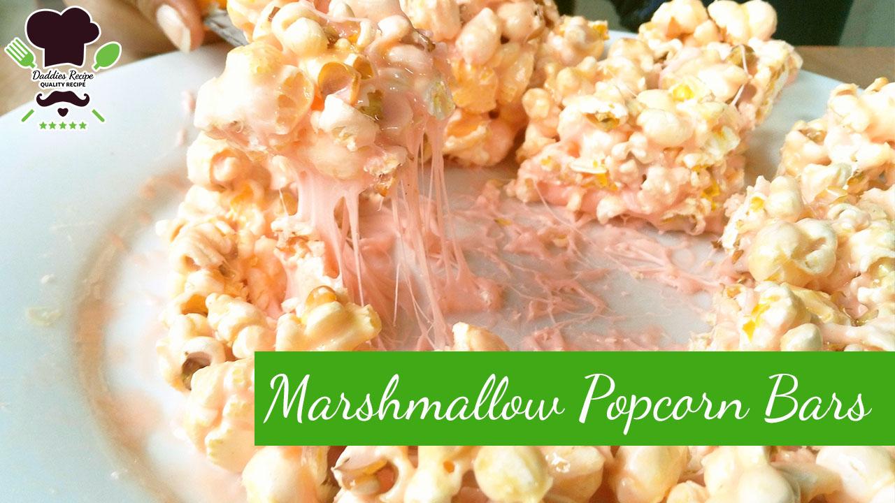 How to make Marshmallow Popcorn Bars – Easy Recipe