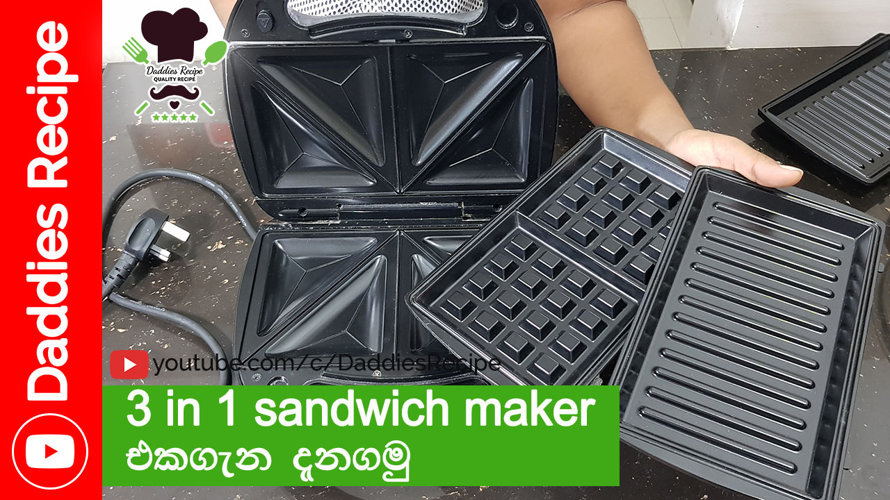 3 in 1 Sandwich Maker – Grill & Waffle Maker – Kitchen Tools